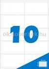Etikett címke A4 (105 x 57 mm) 10 db etikett címke/ív  100 db ív/csomag