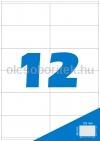 Etikett címke A4 (105 x 48 mm) 12 db etikett címke/ív  100 db ív/csomag