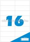 Etikett címke A4 (105 x 37 mm) 16 db etikett címke/ív  100 db ív/csomag