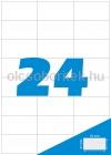 Etikett címke A4 (70 x 37 mm) 24 db etikett címke/ív  100 db ív/csomag