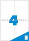 Etikett címke A4 (105 x 148,5 mm) 4 db etikett címke/ív  100 db ív/csomag