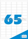 Etikett címke A4 (38,1 x 21,2 mm) kerekített sarkú, 65 db etikett címke/ív  100 db ív/csomag