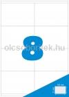 Etikett címke A4 (105 x 74 mm) 8 db etikett címke/ív  100 db ív/csomag
